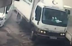 Bursa'da freni patlayan kamyon dehşet saçtı!