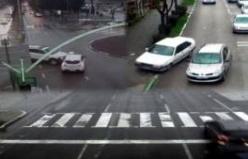 Bursa'da kazalar kameralara böyle yansıdı