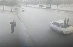 Valiye selam veren polis hayatının şokunu yaşadı!