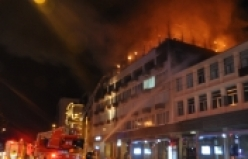 Bursa'da kafede yangın!