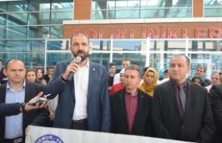 Bursa'da sağlık-Sen'den İnegöl'deki...