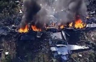 Askeri uçak düştü! 16 ölü