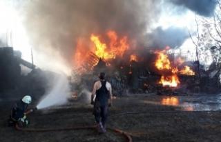 Bursa'da fabrikada büyük yangın!