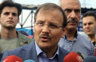 Başbakan Yardımcısı Çavuşoğlu, sürücüleri...