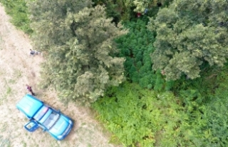 Bursa'da jandarmadan 'drone'lu operasyon!