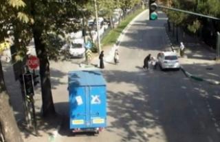 Bursa'da mucize kurtuluş kamerada!