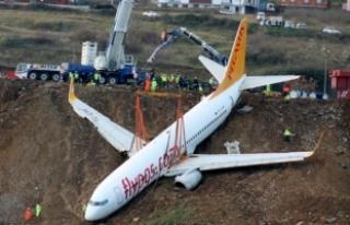 Trabzon'daki uçak için kurtarma operasyonu!