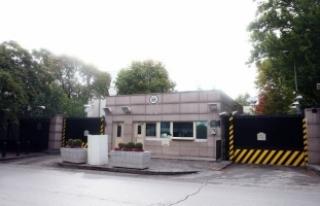 ABD Büyükelçiliği'nin önündeki caddenin...