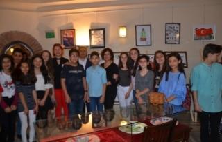 Bursa'da çocuklardan Afrin şehitlerine özel...