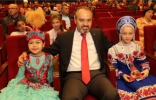 Dünya çocukları Bursa'da buluştu!