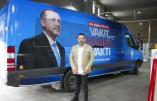 Cumhur İttifakı'nın araç giydirmeleri Uludağ...