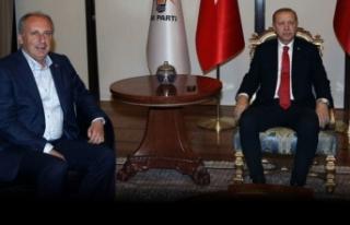 Erdoğan - İnce görüşmesinden ilk açıklama!