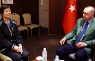 Güney Kore'de Erdoğan'a sürpriz konuk!
