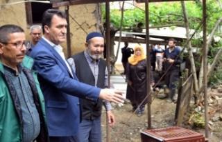 Sel felaketinde evi yıkılan Hasan Amca'ya Osmangazi...