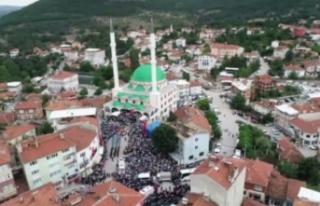 Bursa'da binlerce kişi şehidini son yolculuğuna...