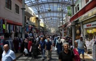 Bursa'da çarşılarda bayram hareketliliği!!