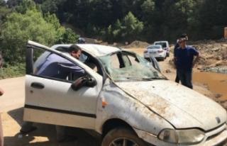 Bursa'da feci kaza! Ehliyet almaya giderken takla...