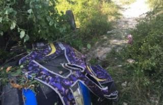 Bursa'da feci kaza! Devrilen traktörün altında...