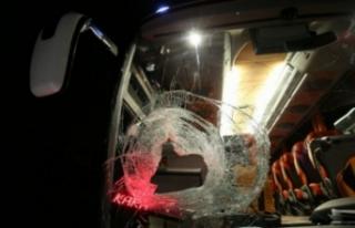 Bursa'da yolcu otobüsüne taşlı saldırı