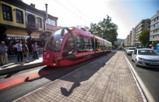 Bursa'da tramvaya miting ayarı