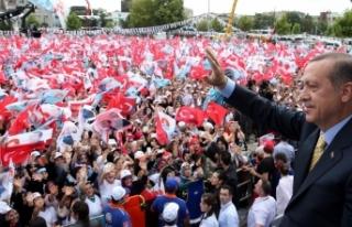 Erdoğan miting yaptığı şehirleri haritada işaretliyor