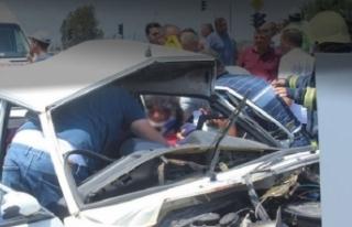 Kimse fark etmedi! Kaza yapan arabadan gelen sesle...