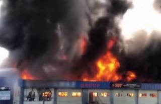 5 bin metrekarelik tekstil fabrikasında yangın!...