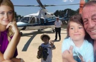 Babasını özledi, helikopterle getirtti