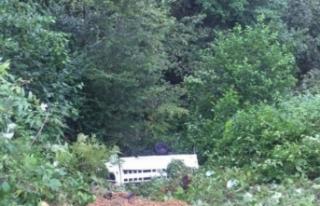 Fındık işçilerini taşıyan minibüs kaza yaptı!...