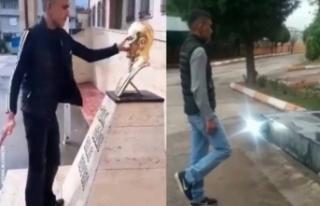 Atatürk büstüne saldıran iki kişi tutuklandı!