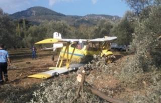 İlaçlama uçağı düştü!