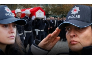 Genç polis gözyaşları içinde son yolculuğuna...