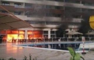 Termal otelde yangın! İtfaiyenin suyu yetmedi