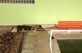 Teröristlerin cami duvarına bitişik sığınağı...