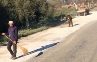 Bursa'da sürücülerin mermer tozuyla imtihanı