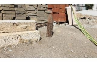 İzmir'in göbeğinde top mermisi bulundu