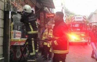 Bursa'da pidecideki yangın vatandaşları sokağa...