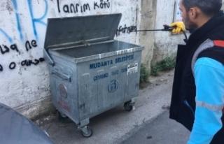 Bursa'da sinekle mücadeleye devam