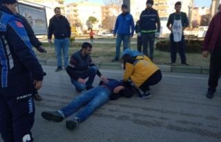Bursa'da kaza! Son anda frene bastı ama...