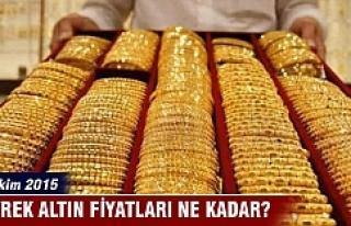 26 Ekim 2015 Çeyrek altın fiyatları ne kadar?