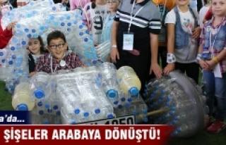 2 bin atık pet şişeden araba yaptılar