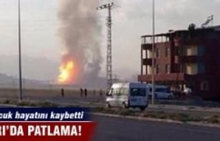 Ağrı'da patlama! 1 çocuk hayatını kaybetti