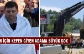 Başbakan Erdoğan için giydiği kefen büfesini...