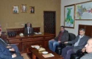 Başkan Ağcan'dan Başkan Polat'a Ziyaret