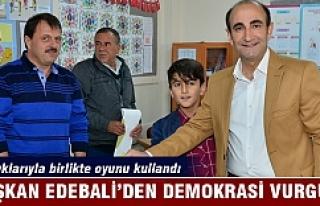 Başkan Edebali'den demokrasi vurgusu
