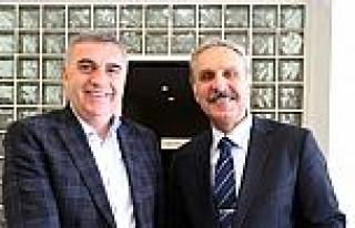 Başkan Toçoğlu, Hakim Akyüz'le Bir Araya Geldi