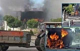 Belediye binasını ateşe verdiler