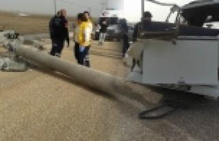 Beton direk 9 işçiyi yaraladı!