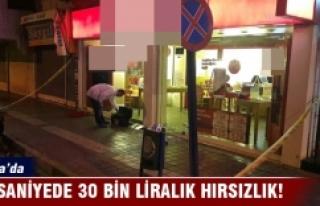 Bursa'da 40 saniyede 30 bin liralık telefon...