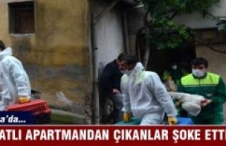 Bursa'da 4 katlı apartmandan çıkanlar polisi...